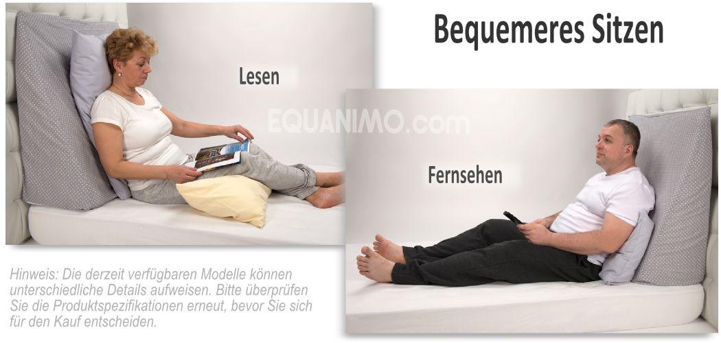 kissen lesen bett wohn design. Black Bedroom Furniture Sets. Home Design Ideas